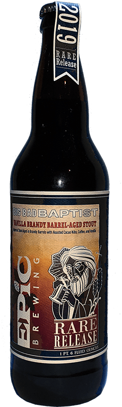 Epic Brewing Company - Big Bad Baptist Vanilla Brandy Barrel-Aged Stout (Release #2)