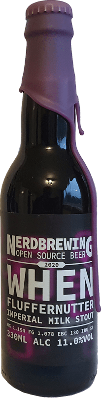 Nerdbrewing - When Fluffernutter Imperial Milk Stout (2020)