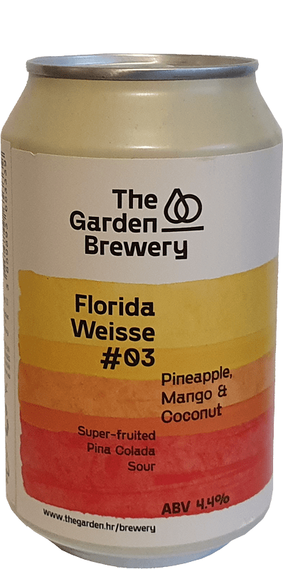 The Garden Brewery - Florida Weisse 3.0 - Pineapple, Mango & Coconut